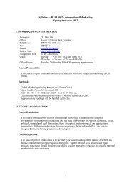 Syllabus – BUSI 0022: International Marketing Spring Semester 2012