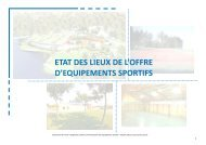 ETAT DES LIEUX DE L'OFFRE D'EQUIPEMENTS SPORTIFS