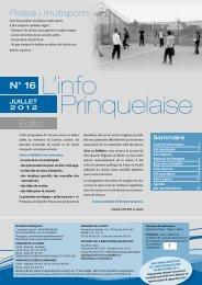 Numéro 16 Juillet 2012 - PRINQUIAU