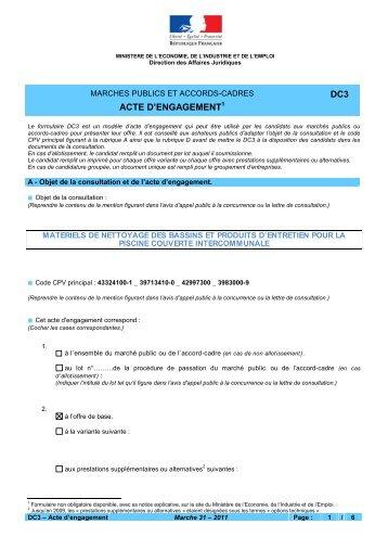 acte dengagement dc3