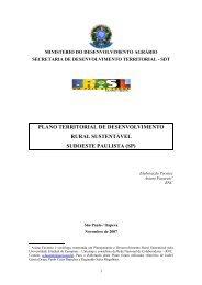 PLANO TERRITORIAL DE DESENVOLVIMENTO RURAL SUSTENTÁVEL SUDOESTE PAULISTA (SP)