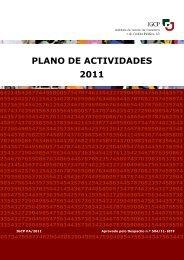 PLANO DE ACTIVIDADES 2011