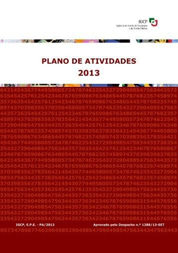 Plano de Atividades para o Ano 2013 - IGCP