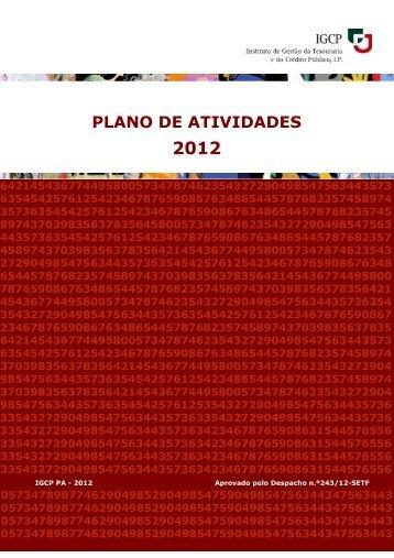 Plano de Atividades para o Ano 2012 - IGCP