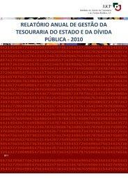 RELATÓRIO ANUAL DE GESTÃO DA TESOURARIA DO ESTADO E DA DÍVIDA PÚBLICA - 2010