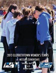 2013 elizabethtown women's tennis - Elizabethtown College Athletics