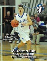 vs Lancaster Bible