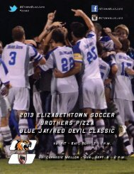 2013 ELIZABETHTOWN SOCCER BROTHERS PIZZA BLUE JAY/RED DEVIL CLASSIC