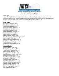 IWLCA All-American Honorees Named 48 student-athletes ...