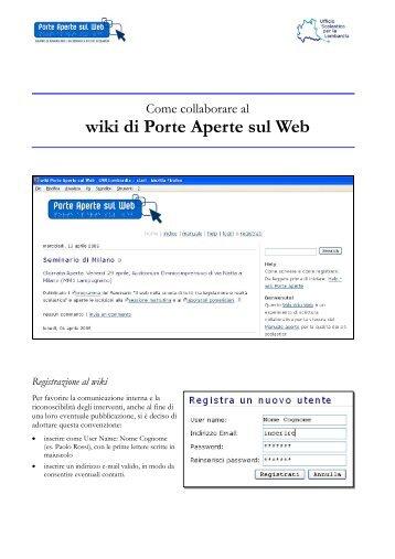 wiki di Porte Aperte sul Web