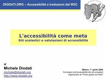 L'accessibilità come meta