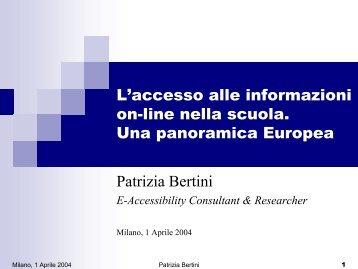 accessibilità e siti scolastici in altri Paesi Europei - Porte aperte sul ...