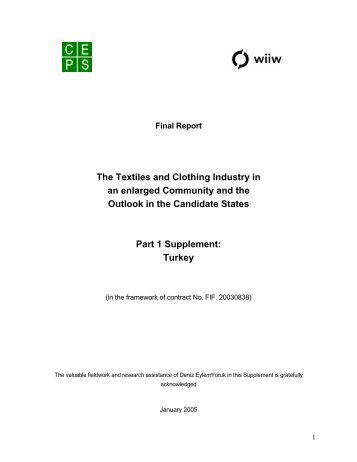 The Textiles and Clothing industry in an enlarged Community and ...