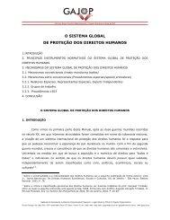 o sistema global de proteçào dos direitos humanos - Gajop