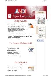 CORSI FAD ANDI 61° Congresso Nazionale ANDI ANDI Eventi 2013