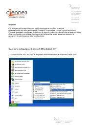 Manuale di configurazione su Outlook 2007 - Andi