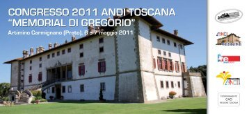 "CONGRESSO 2011 ANDI TOSCANA ""MEMORIAL DI GREGORIO"""