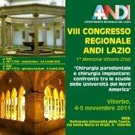 VIII CONGRESSO REGIONALE ANDI LAZIO