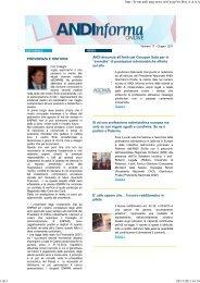 22/06/2011 previdenza e dintorni - Andi