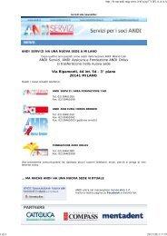 18/11/2009 ANDI Servizi cambia sede