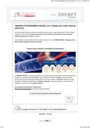 TERAPIA FOTODINAMICA HELBO per il trattamento delle infezioni batteriche