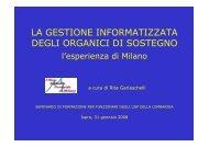 la gestione informatizzata degli organici di sostegno - Ufficio ...