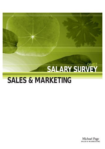 SALES & MARKETING SALARY SURVEY - Michael Page Hong Kong