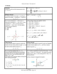 7.2 Velocity A Velocity Velocity is a vector and the ... - La Citadelle