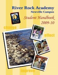 Student Handbook 2009-10 - River Rock Academy
