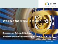 Selected Applications Including - ELIN Motoren GmbH