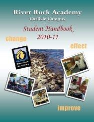 Student Handbook 2010-11 - River Rock Academy
