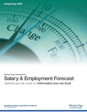 Salary & Employment Forecast - Michael Page Hong Kong