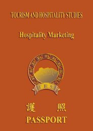 Manual on elective iii - hospitality marketing