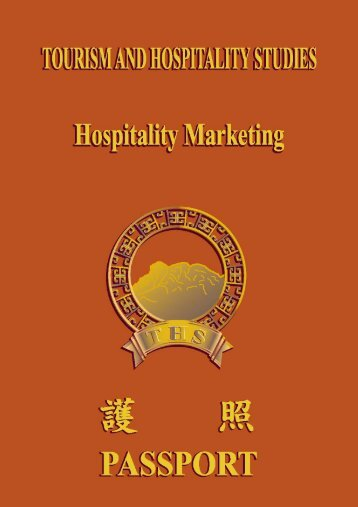 Manual on elective iii - hospitality marketing