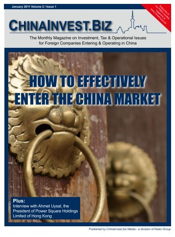 HOW TO EFFECTIVELY ENTER THE CHINA MARKET