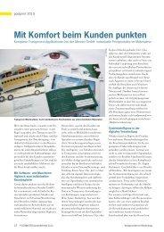 Mit Komfort beim Kunden punkten - Müller Apparatebau GmbH