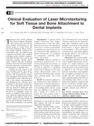 Clinical Evaluation of Laser Microtexturing for Soft ... - Classimplant