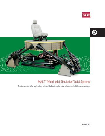 MAST™ (Multi-axial Simulation Table) Systems - MTS