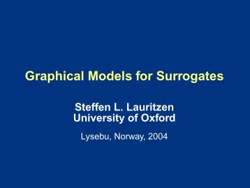 Graphical Models for Surrogates