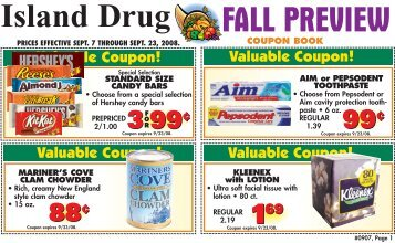 2017 island living coupon book fall preview coupon book island drug fandeluxe Image collections