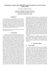 Performance Analysis of the IEEE 802.11 MAC Protocols over a ...