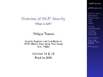 Overview of Wi-Fi Security