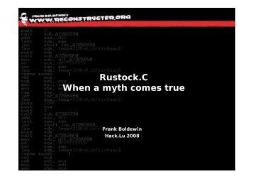 Rustock.C When a myth comes true