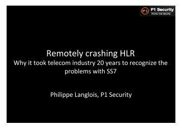 Remotely crashing HLR