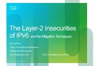 The Layer-2 Insecurities of IPv6