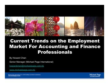 Current Trends in Finance and Accounting - Michael Page Hong Kong