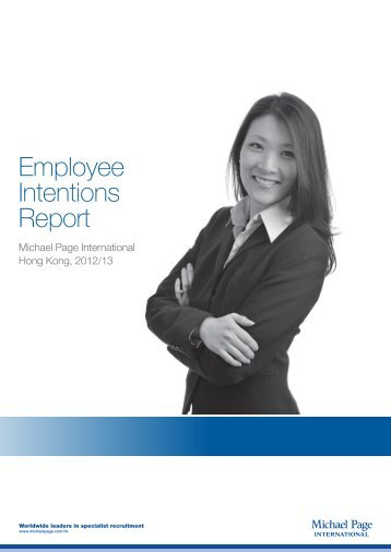 Employee Intentions Report - Michael Page Hong Kong