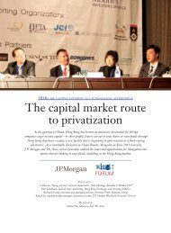 The capital market route to privatization - Paul Hastings