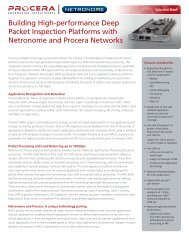 Building High-performance Deep Packet ... - Procera Networks