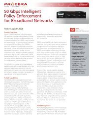 50 Gbps Intelligent Policy Enforcement for ... - Procera Networks